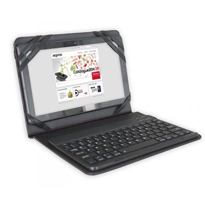 Stand Case More Teclado Approx To 9.7a 10.1 Bluetooth Tablets Color Black