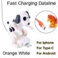 Забавные подушкой собака работает быстро Зарядное устройство зарядный кабель линии Милая быстрой зарядки Мощность кабель для передачи дан...