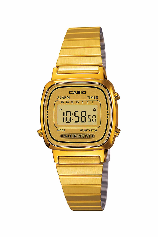 Original Casio Woman Watch Brand Luxury Quartz Waterproof Digital Ladies Watch LA670WGA-9DF