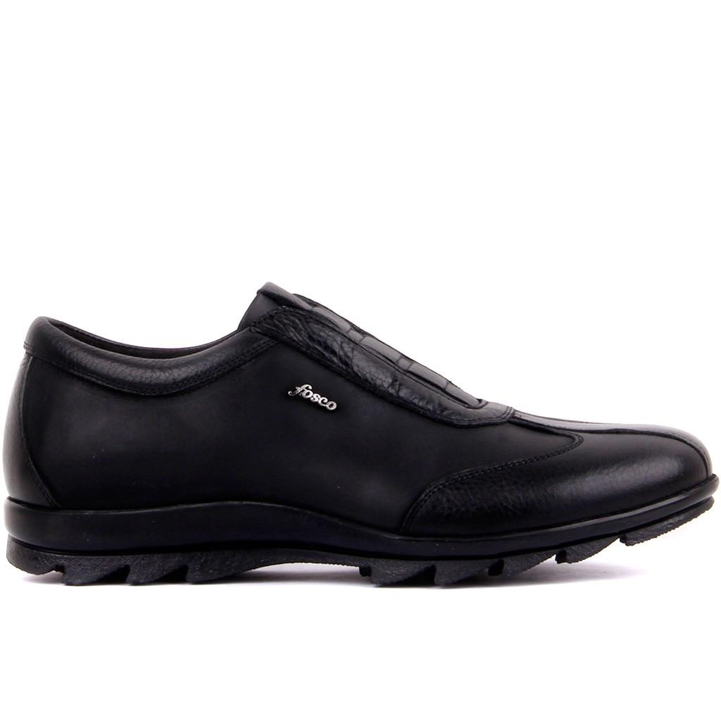 Fosco-couro genuíno 2020 masculino sapatos casuais sapato preto marrom calçado masculino tamanho 40-44 feito na turquia
