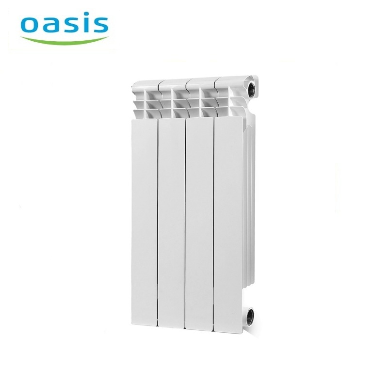 004 Bimetal Radiator Oasis 500/80/4 Electric heater air heater heating elements household radiator home energy saving 220v household electric heater rotatable energy saving head shaking heater fast heating 3 gear control electric heater eu au uk