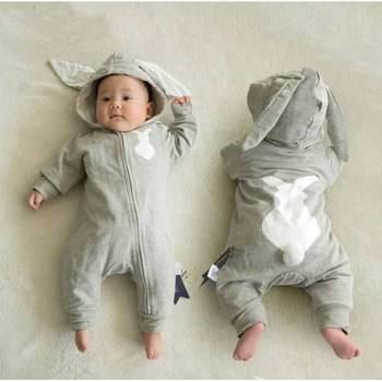 Baby Boys Girls animal jumpsuit cartoon kids clothes newborn baby rompers warm spring autumn winter snowsuit