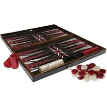 Trendy Wooden Black Backgammon  High Grade Backgammon Chess Travel Chess Set Fine Wooden Chessboard Classic Game