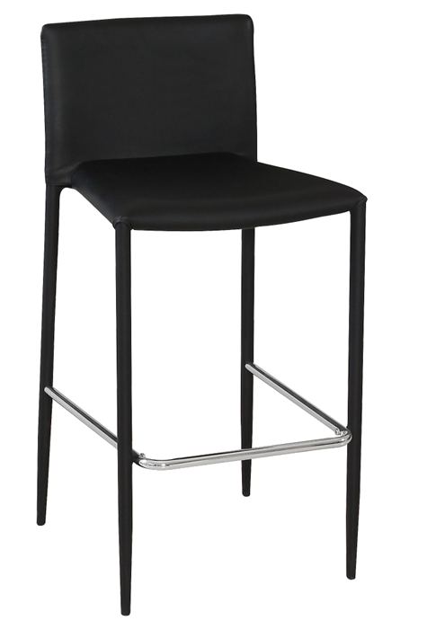 Stool ANNA, Stackable, Similpiel Black