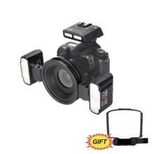 MEKE Meike MK-MT24 Macro Twin Lite  Speedlight Flash for Canon DSLR Camera 70D 60D 760D 750D 550D 450D 1200D  5D 6D EOS M3+GIFT meike mk 14ext mk 14 ext ettl macro ttl ring flash af assist lamp for canon 5d iii 6d 650d 500d 1000d 450d camera