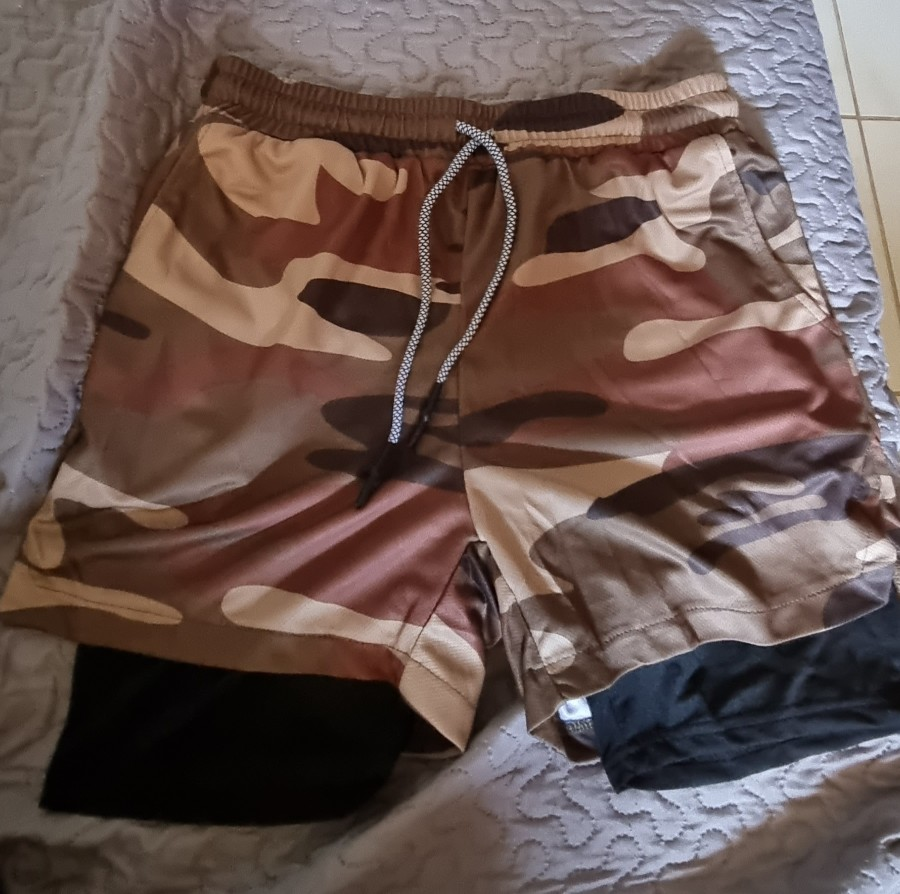 Men's Camouflage Printed Running Shorts photo review