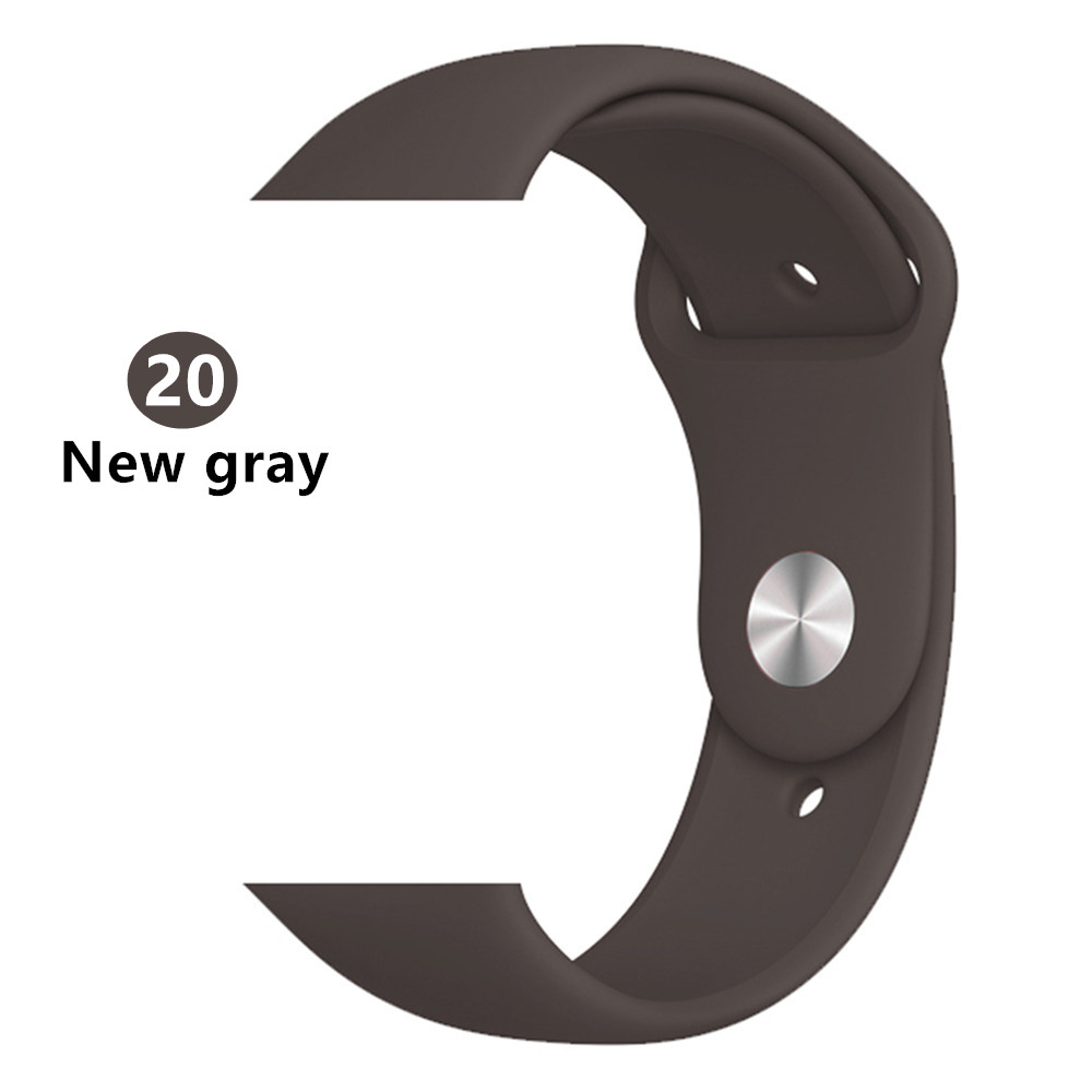 Ремешок для apple watch band 44 мм/40 мм iwatch band 5 4 42 мм 38 мм correa pulseira watch band для apple watch 5 4 3 браслет 44 мм - Цвет ремешка: new gray 20