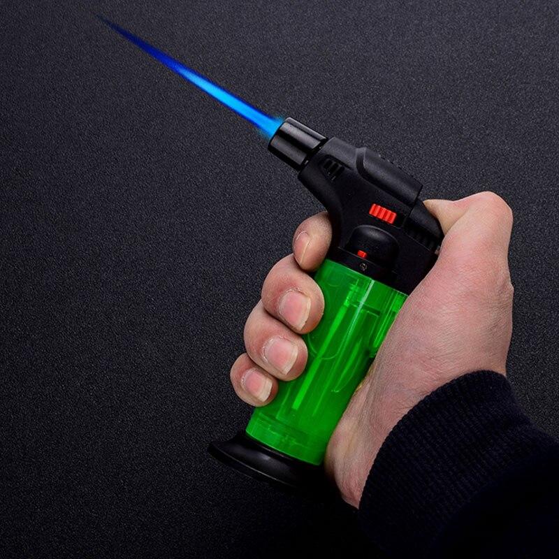 Windproof Gas Lighter Butane Turbo Lighter Gasoline Refillable Cigarette Gas Cooker Torch Lighters Kitchen Tool