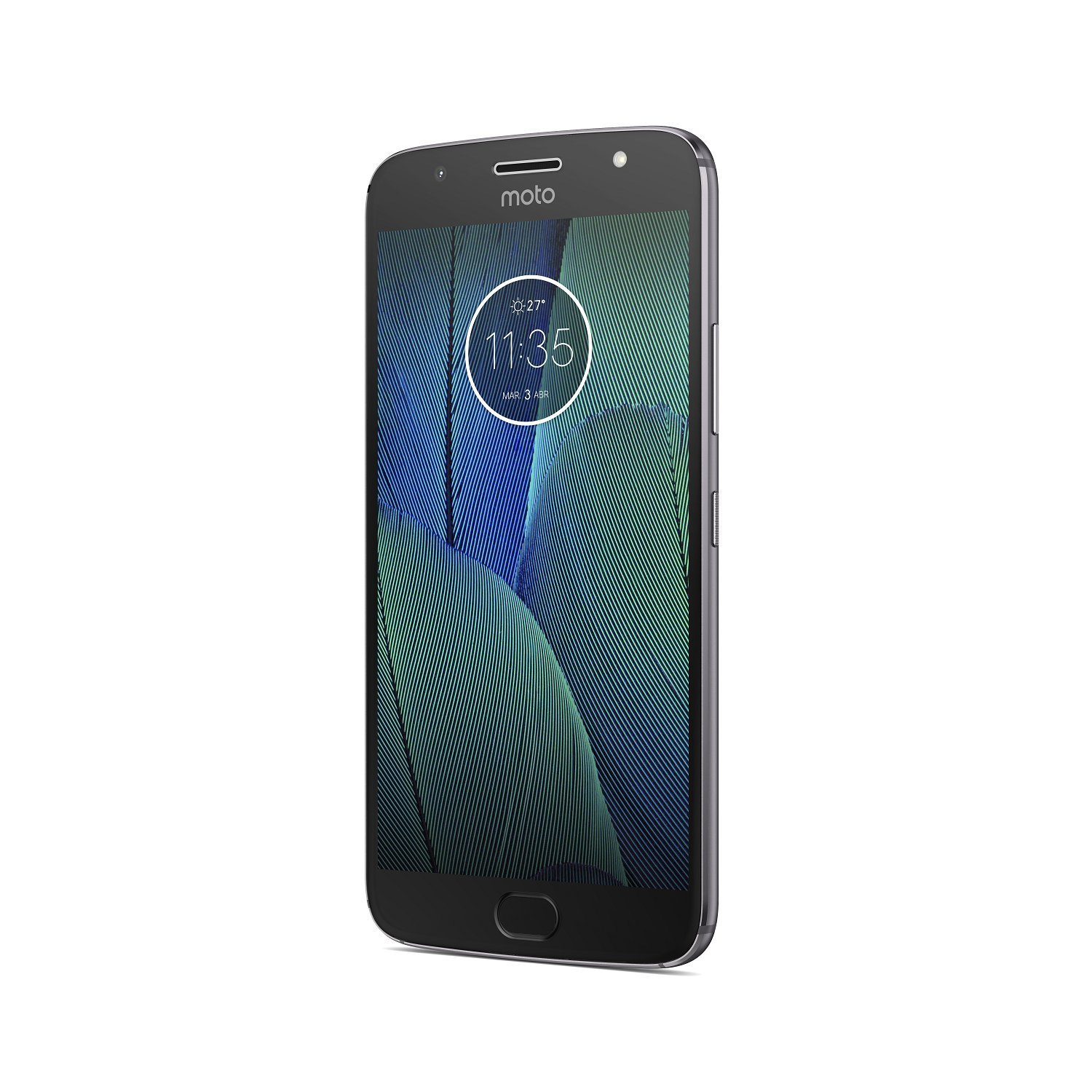Motorola Moto G5 S Plus, Color Grey (Greys), Dual SIM, Internal 32 Hard GB De Memoria, 3 Hard GB RAM, Screen 5.5