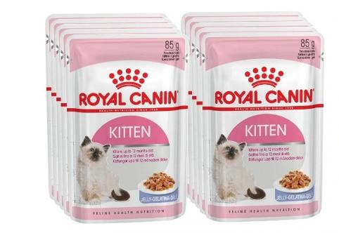 Royal Canin Kitten Instinctive пауч для котят (кусочки в желе), Cat Food, For Cats, 24*0,085 кг