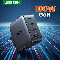 UGREEN USB Ladegerät 100W GaN Ladegerät für Macbook tablet Schnelle Lade für iPhone Xiaomi USB Typ C PD Ladung für iPhone 12 11