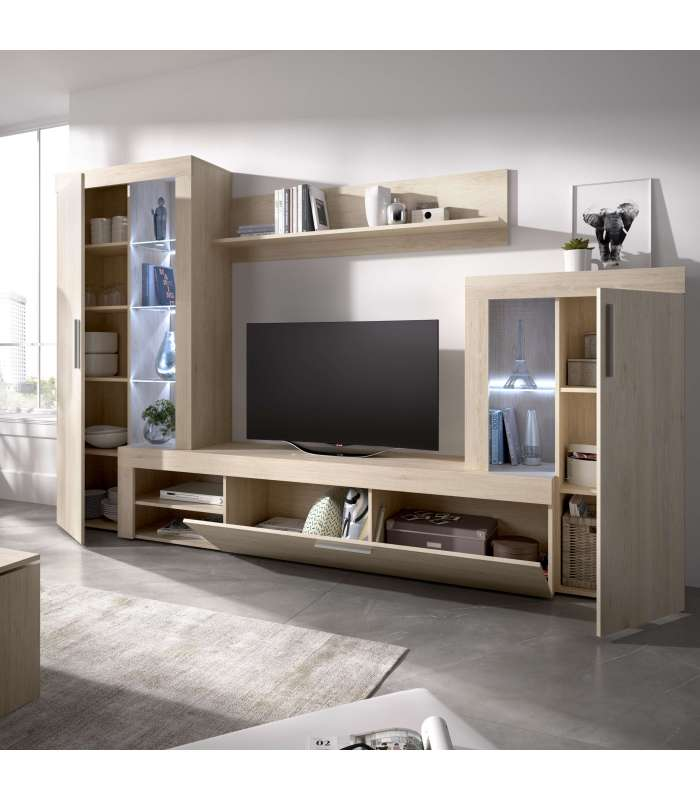 Furniture Lounge Glein With Showcase And Leds Purposes.