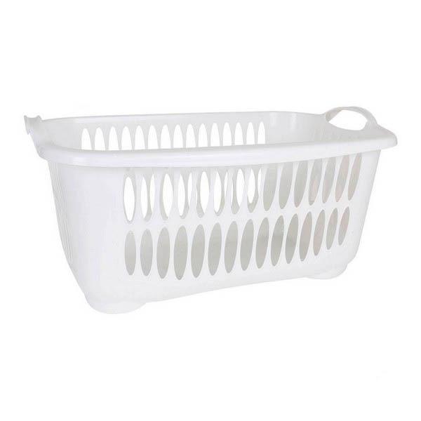 سلة الغسيل Tontarelli 45 لتر مستطيلة من البلاستيك-في أكياس تخزين قابلة للطي من المنزل والحديقة على