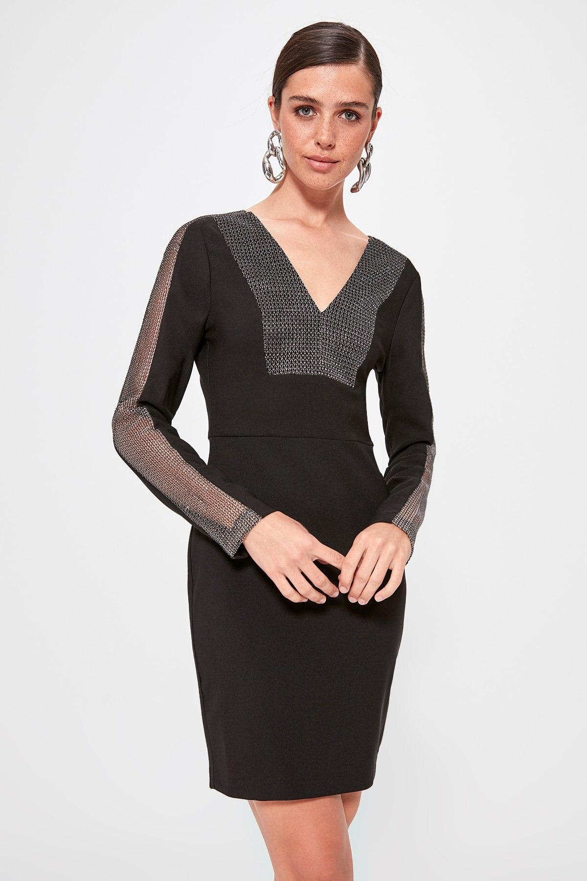 Trendyol Sleeve Detail Dress TPRAW20EL1349