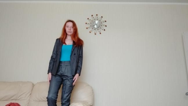 Female Elegant Business Uniform 2 Piece Pant Suits for Ladies Women's Business Office Work Wear Blazers Trouser Sets Gray Stripe reviews №1 23739