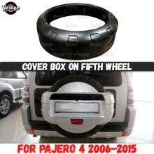 Abdeckung box auf fünfte rad für Mitsubishi Pajero 4 2006 2015 ABS kunststoff zubehör auto tuning styling dekoration