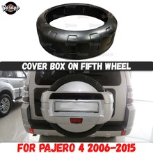 Cover box on fifth wheel for Mitsubishi Pajero 4 2006 2015 ABS plastic accessories car tuning styling decoration