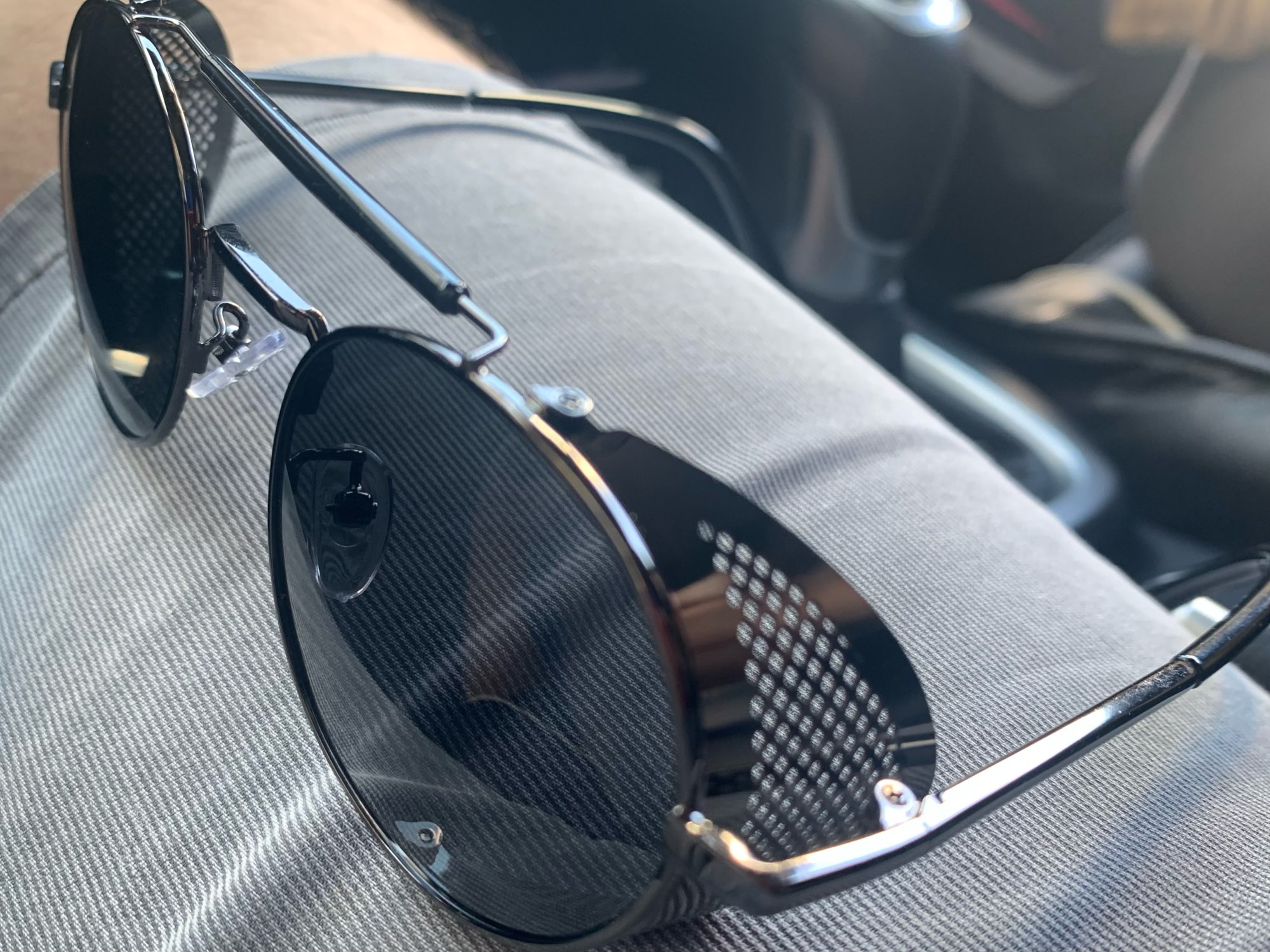 <strong>BARCUR Round</strong> - Polarized Steampunk Round Sunglasses For Men & Women photo review