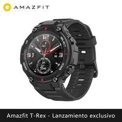 독점 출시 Amazfit T-REX 스마트 시계 스포츠 야외 xiaomi 스마트 시계 GPS 블루투스 [글로벌 버전]