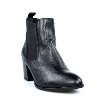 Booties manufactured in Spain suede elasticated black 39353