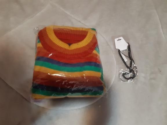 Harajuku E-girl Loose Striped Sweater photo review