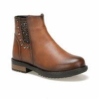 Girls Boots Shoes Spring Autumn Brown PU Children's LeatherFashion Kids Warm Winter Rubber Waterproof Snow Rain Baby AYALA