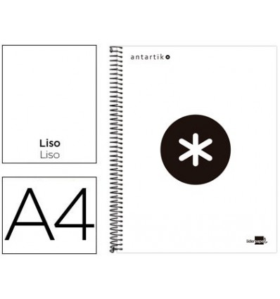 SPIRAL NOTEBOOK LEADERPAPER A4 MICRO ANTARTIK LINED TOP 120H 100 GR WITH BANDS 4 HOLES WHITE COLOR