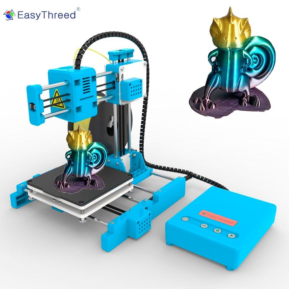 EasyThreed маленький мини 3d принтер дешевые пла смолы FDM мини Impressora 3d Brasil русский склад DIY наборы подарок Imprimante X1