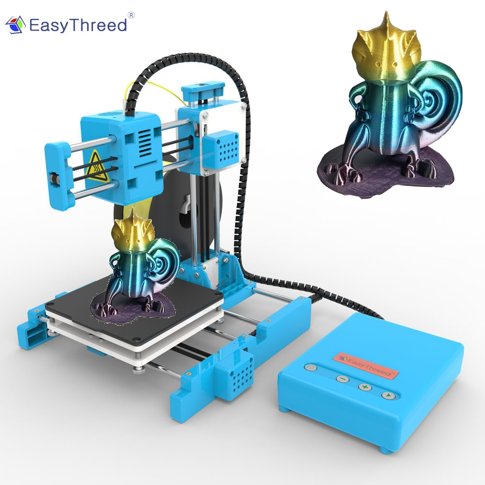 EasyThreed Small Mini 3d Printer Cheap PLA Resin FDM Mini Impressora 3d Brasil Russian Euro Warehouse impresora 3d Imprimante X1