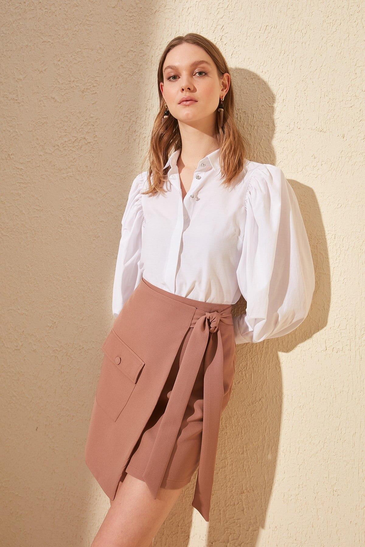 Trendyol Lacing Detailed Skirt TWOSS20ET0177