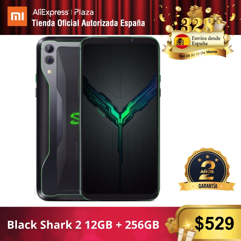 [Global Version For Spain] Xiaomi Black Shark 2 (Memoria Interna De 256GB, RAM De 12GB, Camara Dual De 48MP+12MP)