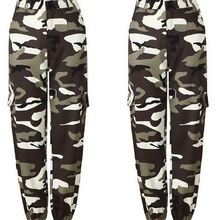 SIL0057 Womens Camo Cargo m002 Trousers Casual Pants Militar