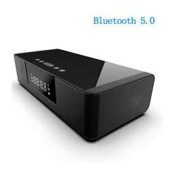 Black BS-39A wireless charging + Sound Blaster Bluetooth speaker 5.0 hands-free calling smart alarm with remote control Speaker