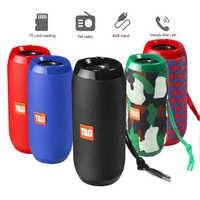 T & G 117 BT altavoz inalámbrico Bluetooth | popular | Impermeable | Portátil | Caja de altavoz redonda vertical | Tarjeta TF-con radio FM