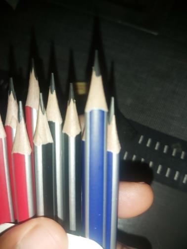 Lápis padrão escrever padrão triângulo