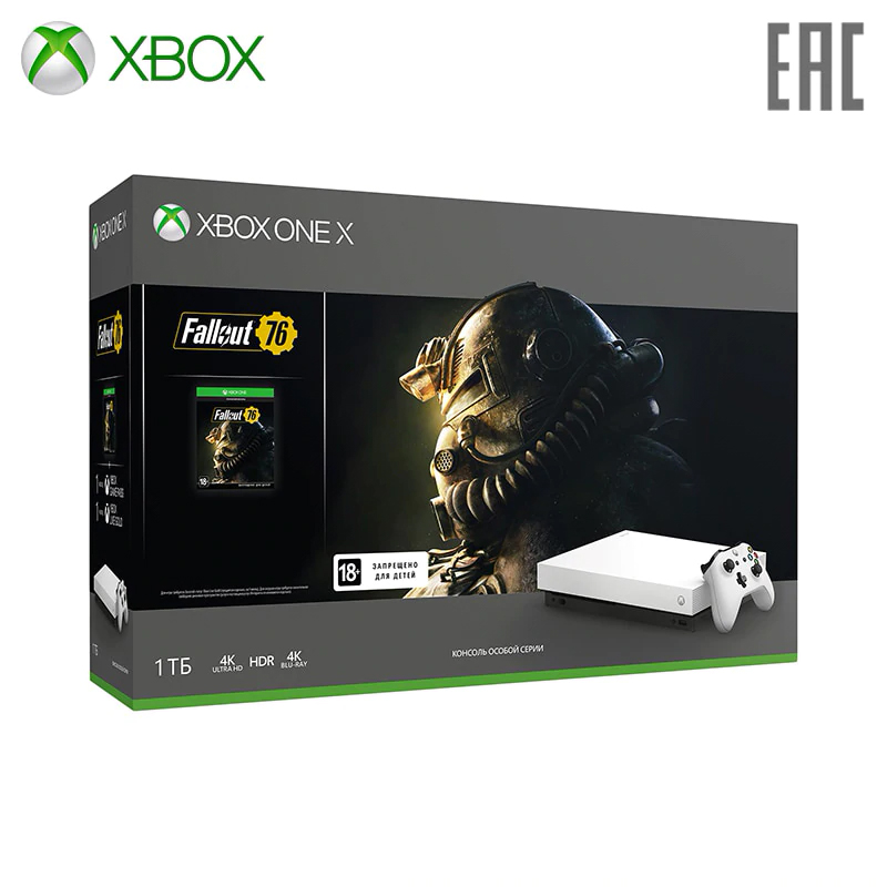 Video Game Console Microsoft Xbox One X FMP-00058 + Fallout 76 0-0-12 video game console microsoft xbox one x fmp 00058 fallout 76