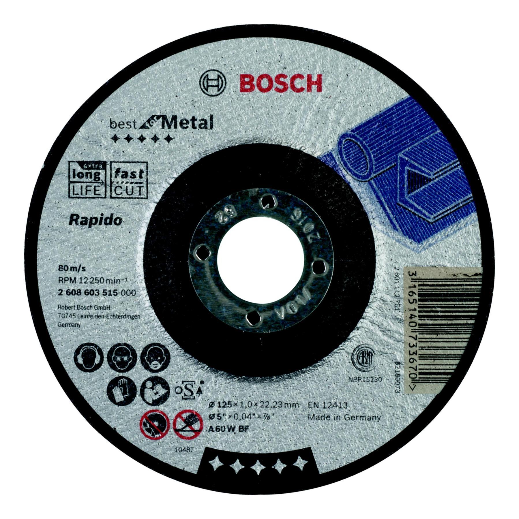 Circle Cutting BOSCH 125х1х22 Best For Metal (2.608.603.515)