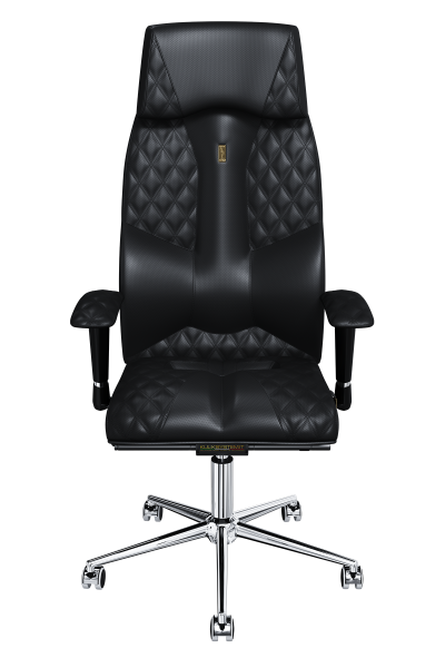 Office Chair KULIK SYSTEM BUSINESS Black Computer Chair Relief And Comfort For The Back 5 Zones Control Spine