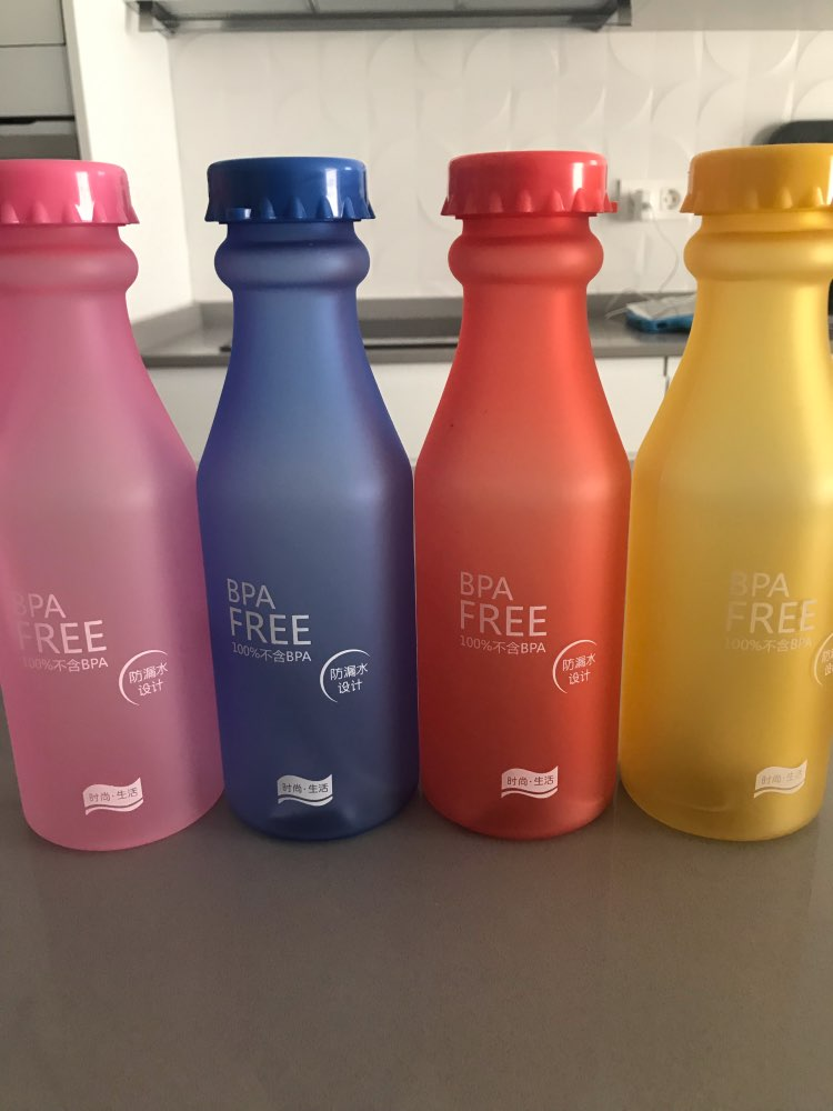 Candy Colors Unbreakable Frosted Leak proof Plastic kettle 550mL BPA Free Portable Water Bottle for Travel Yoga Running Camping-in Water Bottles from Home & Garden on AliExpress