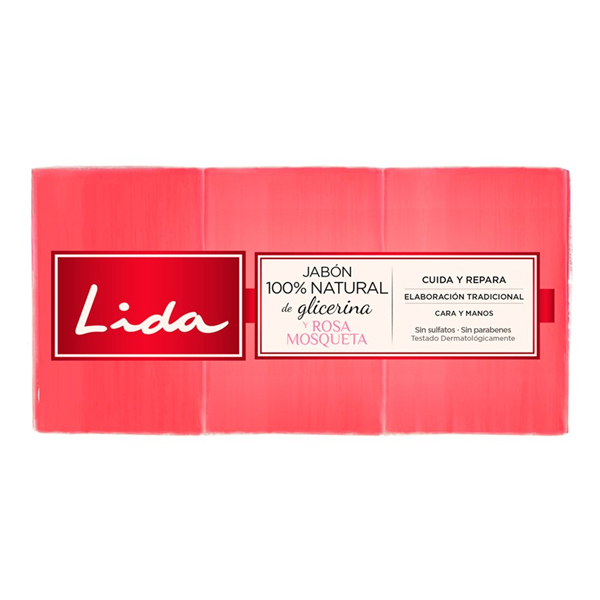 Glycerine And Rosehip Soap Bar Lida (3 Pcs)