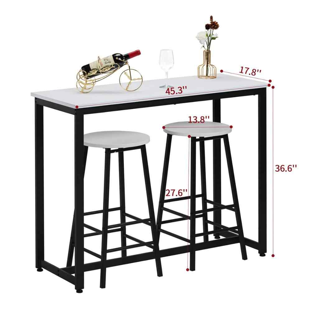 9 Piece Pub Table Set, Breakfast Bar Table with 9 Bar Stools, Counter  Height Dining Bar Table Set for Kitchen, Living Room