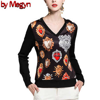 2019 свитер женский women fashion pullover wool sweater women v-neck long sleeve elastic print female knitted top jumper sweater - DISCOUNT ITEM  0% OFF All Category