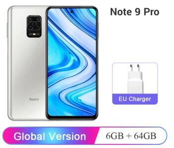 Глобальная версия Xiaomi Redmi Note 9 Pro 6GB оперативной памяти, 64 Гб встроенной памяти/128GB ROM мобильный телефон Snapdragon 720G 64-мегапиксельная четырехъядер...