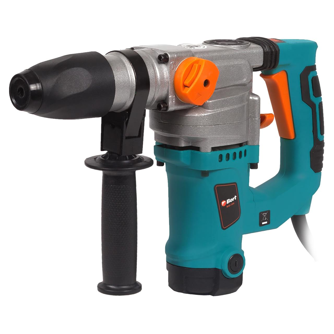Rotary Hammer Bort BHD-1500 (Power 1300 W, energy impact 6,5Дж, SDS + Chuck, case, cutting bits)