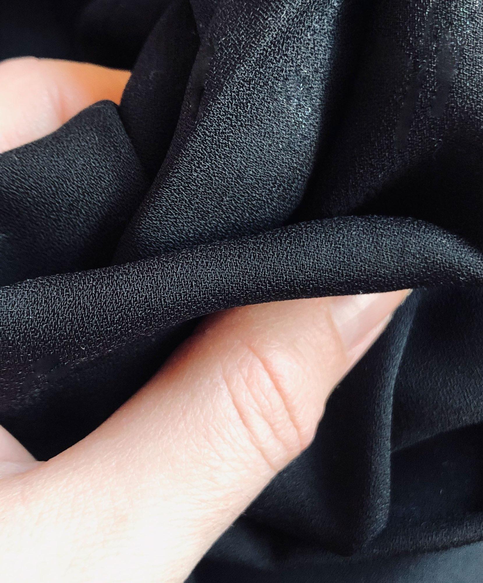 Hot 2019 autumn new fashion women's temperament commuter puff sleeve small high collar natural A word knee Chiffon dress reviews №2 510442