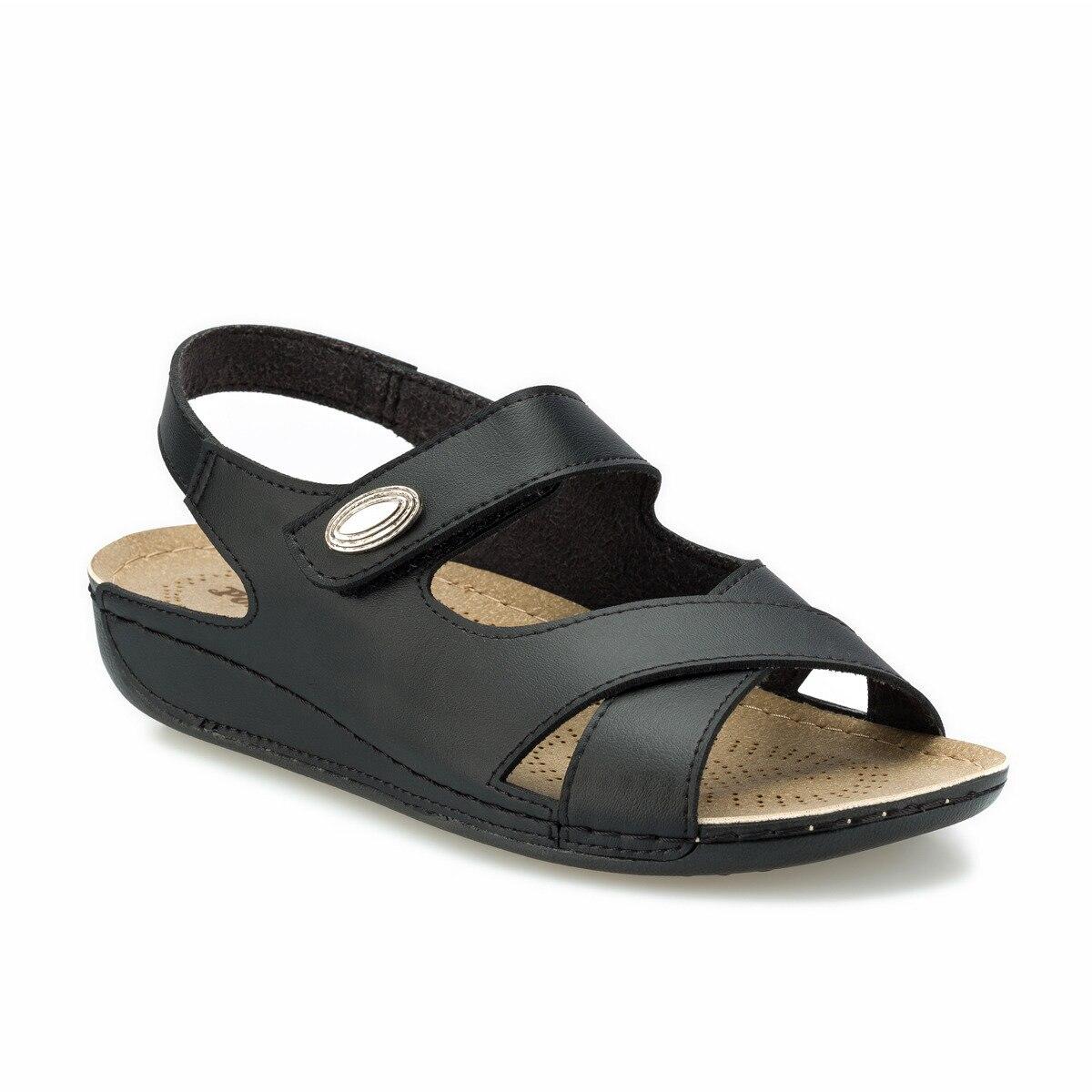 FLO 161148.Z Black Women Sandals Polaris