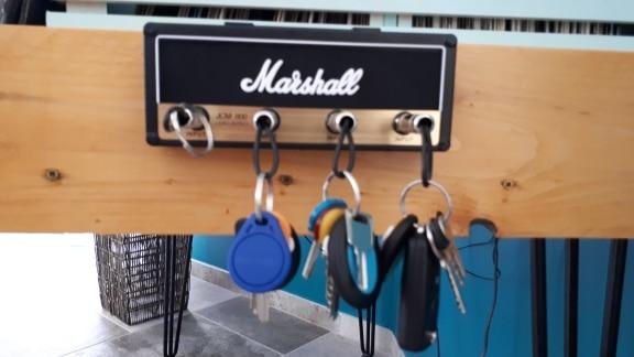 Porte clés mural Marshall avec 4 prises Jack