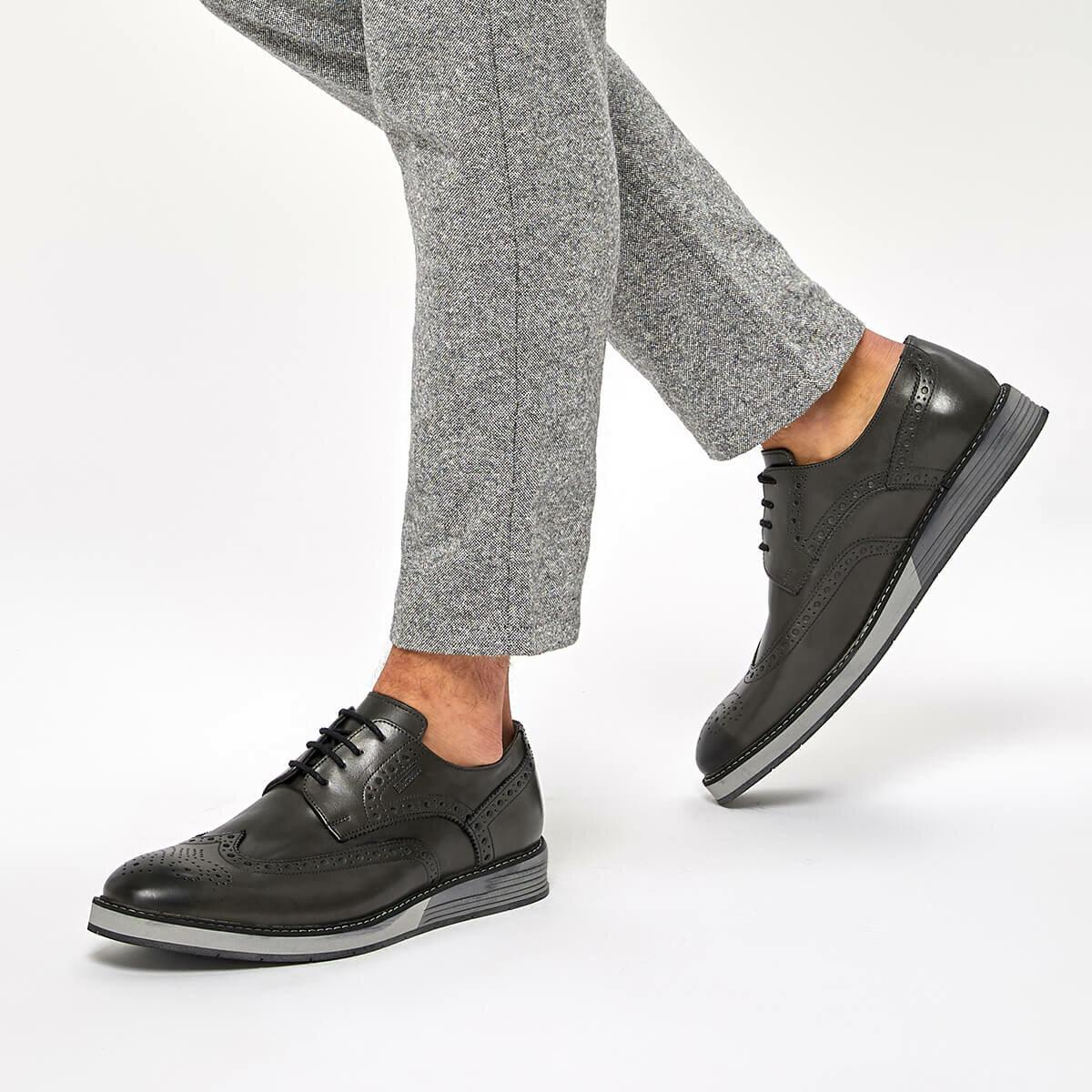 FLO NEVEN Gray Men 'S Classic Shoes MERCEDES
