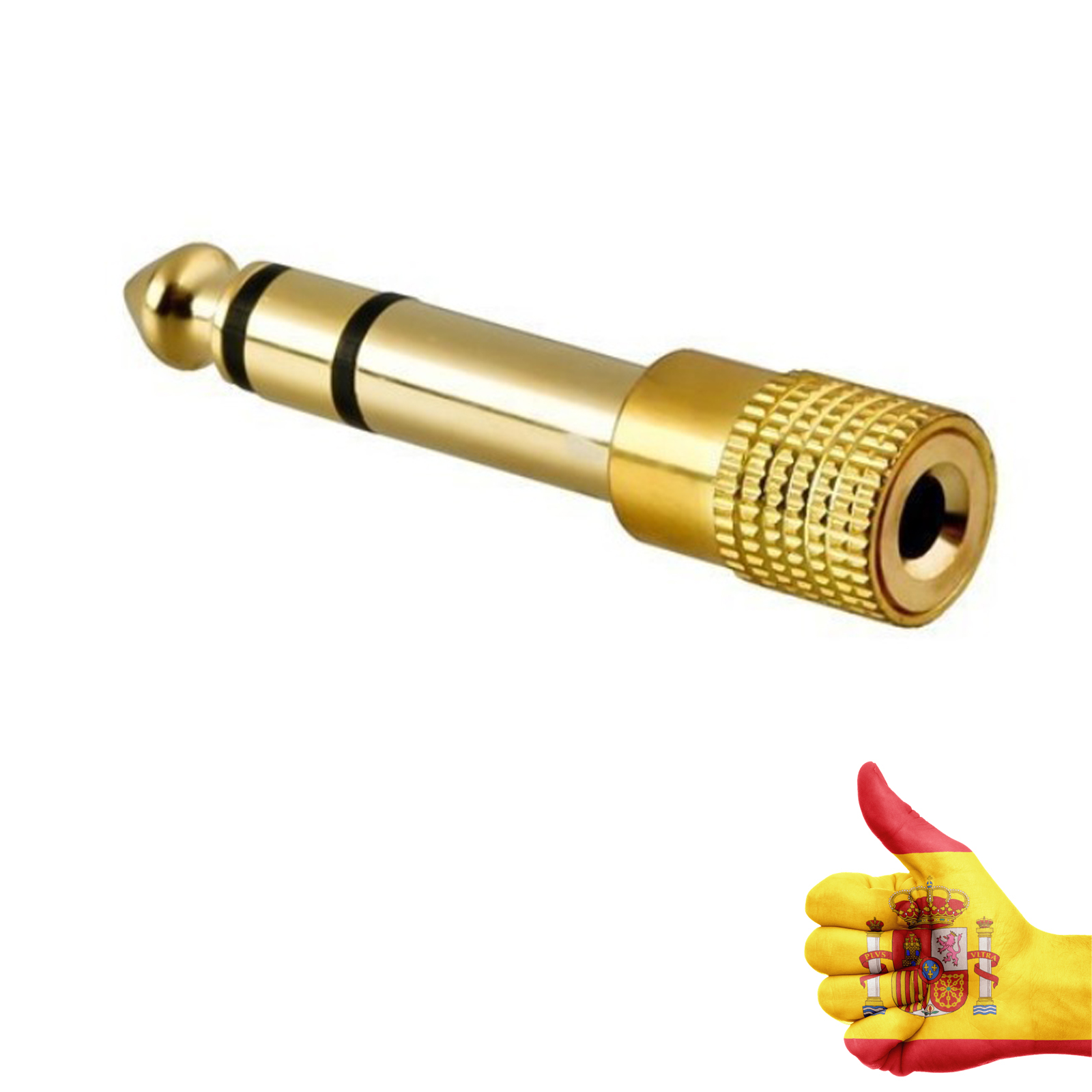 Adapter 3,5mm female to 6,35mm JACK PLUG Audio Stere Gold 1/4 inch adapter for headphones electric <font><b>guitars</b></font> image