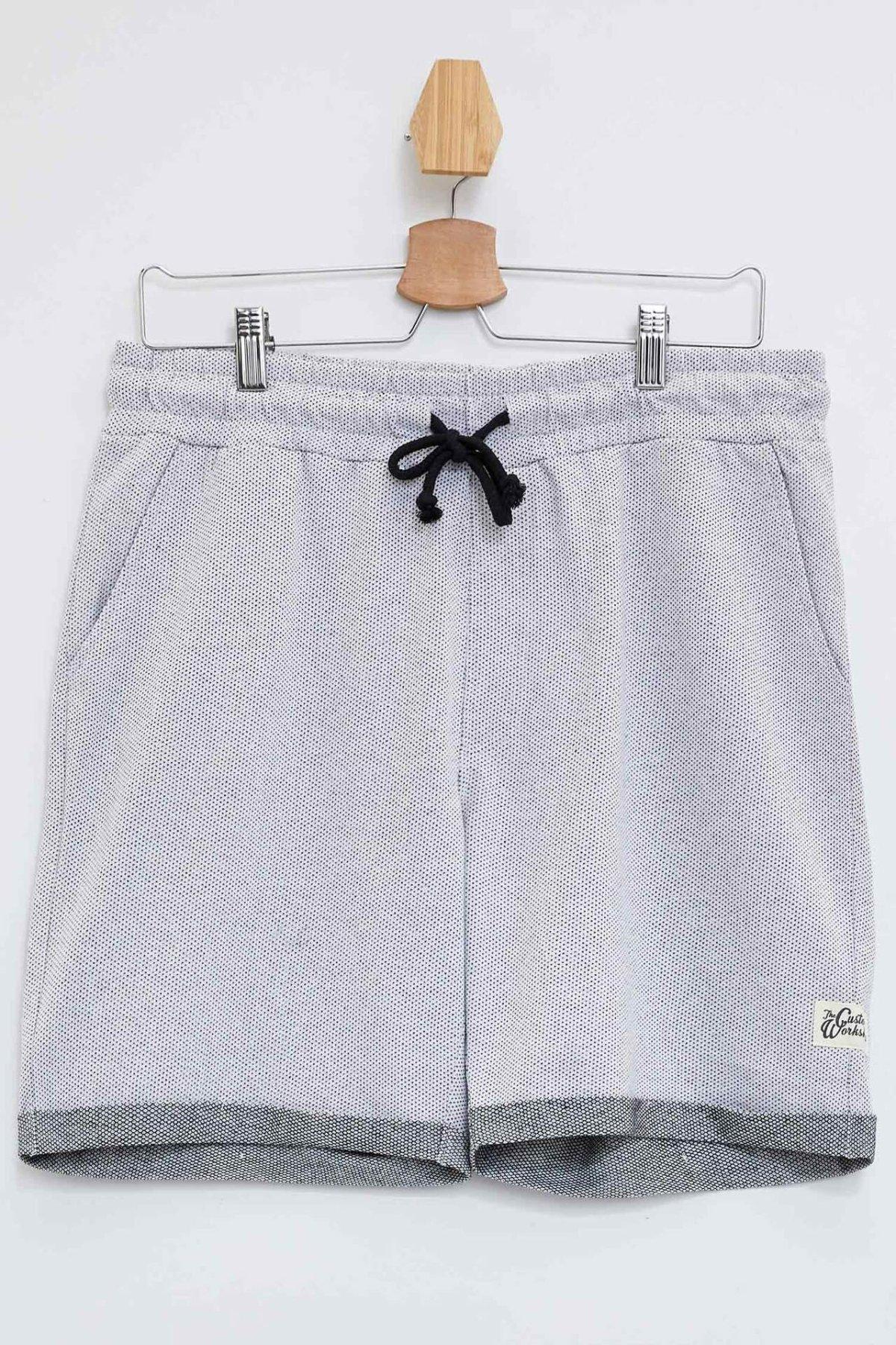 DeFacto Man's Summer Casual Short Men's Lace-up Bottoms Men's Light Grey Casual Shorts Men's Short Bottom-K3544AZ19SM
